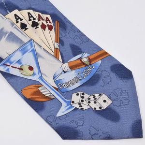Tommy Bahama Paradise Casino Silk Tie Cigar Dice